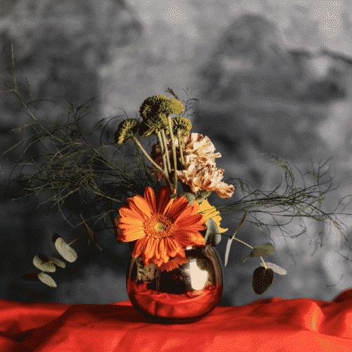 Flower arrangement with Malta grown flowers.